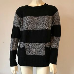 Womens Gap black and gray striped sweater
